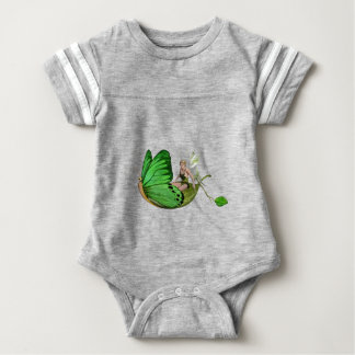 Elven Fairy on a Leaf Boat Baby Bodysuit