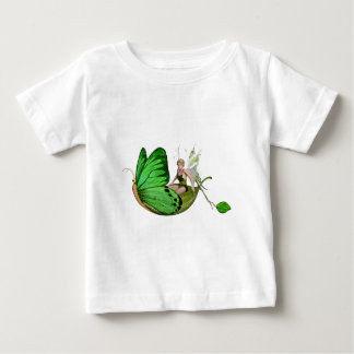 Elven Fairy on a Leaf Boat Baby T-Shirt