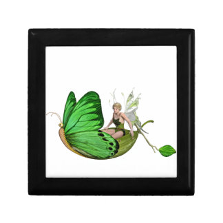 Elven Fairy on a Leaf Boat Gift Box