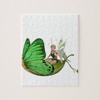 Elven Fairy on a Leaf Boat Jigsaw Puzzle