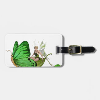 Elven Fairy on a Leaf Boat Luggage Tag
