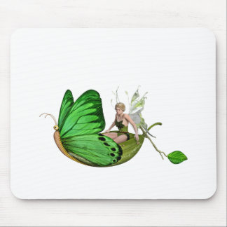 Elven Fairy on a Leaf Boat Mouse Pad