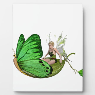 Elven Fairy on a Leaf Boat Plaque
