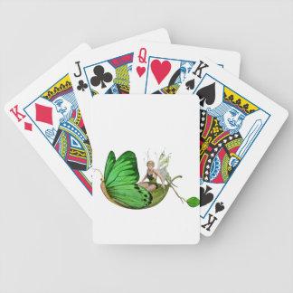 Elven Fairy on a Leaf Boat Poker Deck