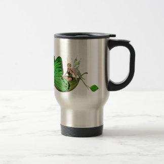 Elven Fairy on a Leaf Boat Travel Mug