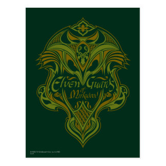 Elven Guards of Mirkwood Shield Icon Postcard