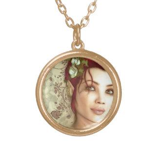 Elven Princess Fantasy Art Personalized Necklace