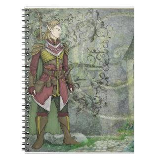 Elven Ranger Spiral Notebook