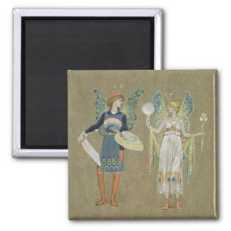 Elves and Fairy Painters, from 'The Snowman' 1899 Refrigerator Magnet