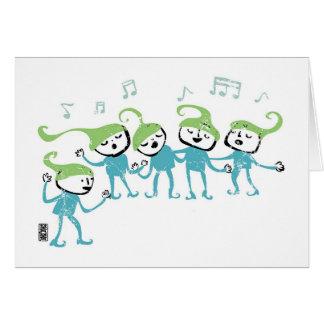 Elves Chorus Greeting Card