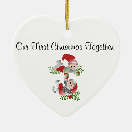 Elves First Christmas Together Ornament