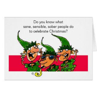 Elves Humorous Christmas Card