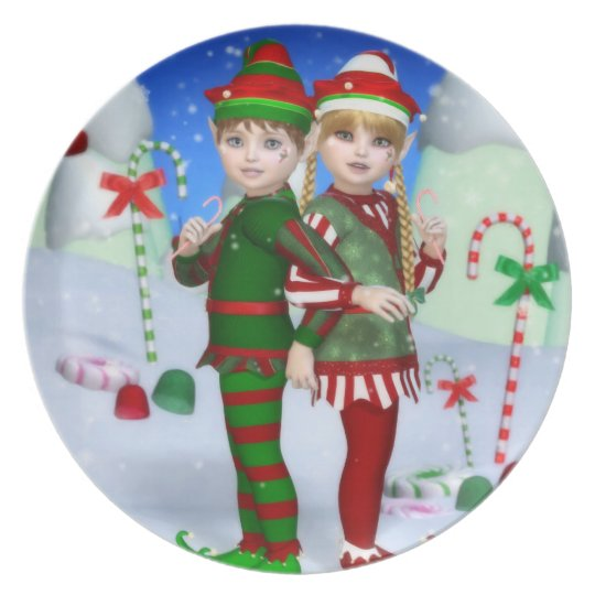 Elves of Candy Mountain Melamine Plate
