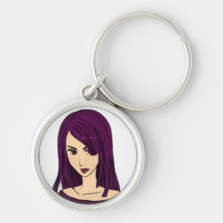 Elvira Silver-Colored Round Key Ring