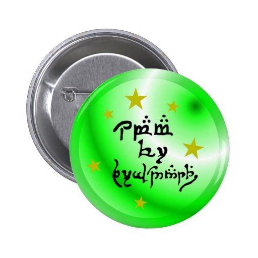 Elvish Language Obama for President Pinback Button