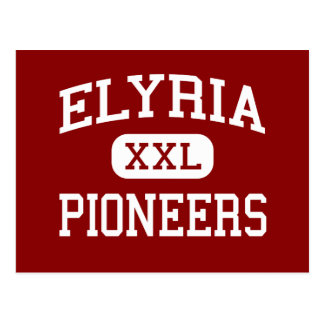 Elyria - Pioneers - High School - Elyria Ohio Postcard