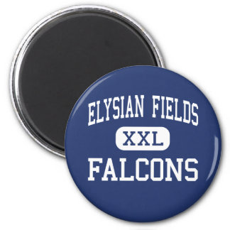 Elysian Fields Falcons Middle Houma 6 Cm Round Magnet