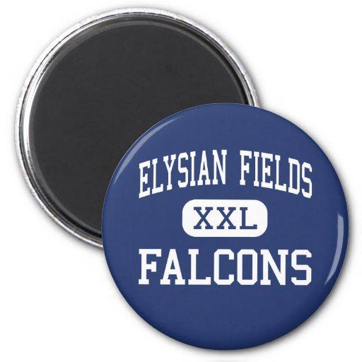 Elysian Fields Falcons Middle Houma Refrigerator Magnet