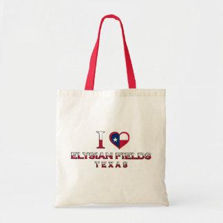 Elysian Fields, Texas Canvas Bags