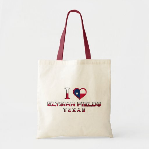 Elysian Fields, Texas Canvas Bags