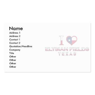 Elysian Fields, Texas Business Cards