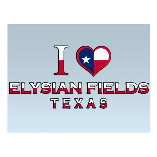 Elysian Fields, Texas Postcard