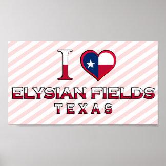 Elysian Fields, Texas Print