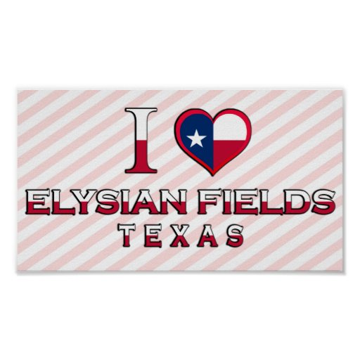 Elysian Fields, Texas Print