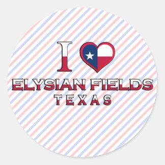 Elysian Fields, Texas Round Stickers