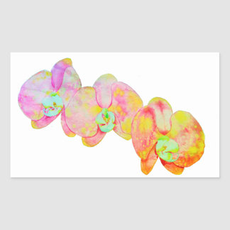 Elysian Orchids Rectangular Sticker