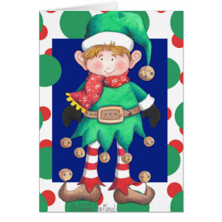 Elzworth the Elf Chrismas card
