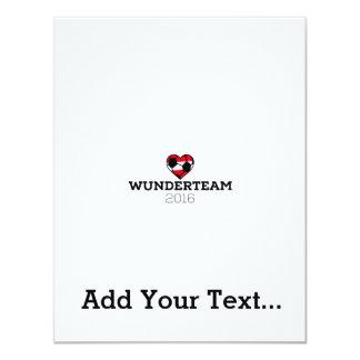 EM2016 Wunderteam Austria 11 Cm X 14 Cm Invitation Card