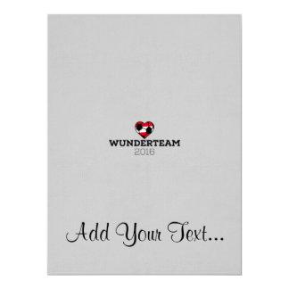 EM2016 Wunderteam Austria 17 Cm X 22 Cm Invitation Card