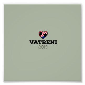 EM 2016 Vatreni Croatia Photo Print