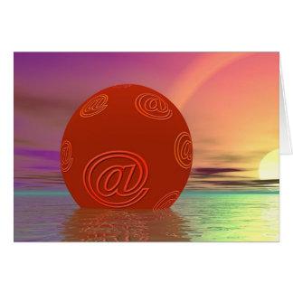 Email Globe Card