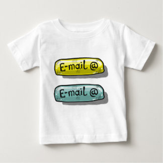 EMail Sketch Button Web Baby T-Shirt