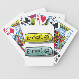 EMail Sketch Button Web Bicycle Playing Cards