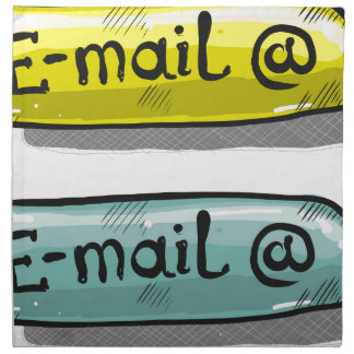 EMail Sketch Button Web Napkin