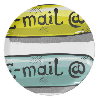 EMail Sketch Button Web Plate