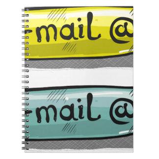 EMail Sketch Button Web Spiral Notebook