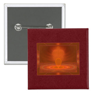 Emanations Abstract Art 15 Cm Square Badge