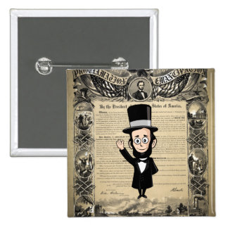 Emancipation Proclamation and Honest Abe Lincoln Button