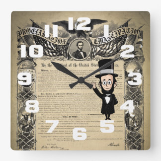 Emancipation Proclamation and Honest Abe Lincoln Clocks