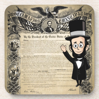 Emancipation Proclamation and Honest Abe Lincoln Drink Coasters