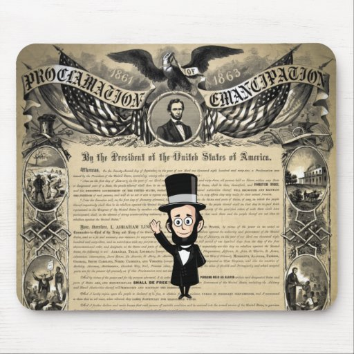 Emancipation Proclamation and Honest Abe Lincoln Mouse Pad