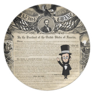 Emancipation Proclamation and Honest Abe Lincoln Plates