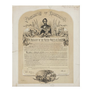 Emancipation Proclamation B B Russell & Co (1868) Gallery Wrap Canvas