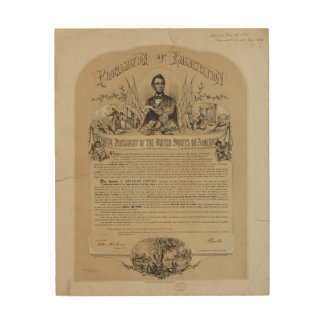 Emancipation Proclamation B B Russell & Co (1868) Wood Canvases