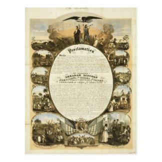 Emancipation Proclamation by L. Lipman Postcard