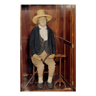 Embalmed body of Jeremy Bentham Poster